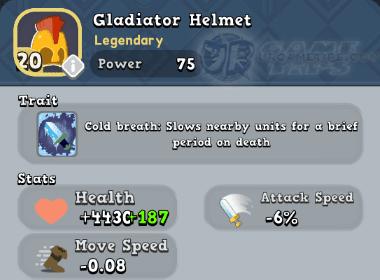 World of Legends: Gladiator Helmet