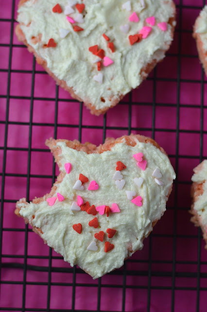 Rice Krispie Hearts with Buttercream Frosting Recipe