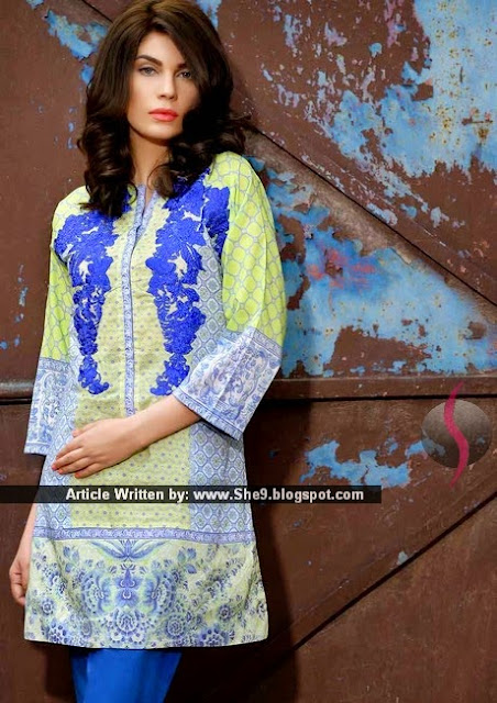 Sobia Nazir Summer Unstitched Kurti Collection 2015