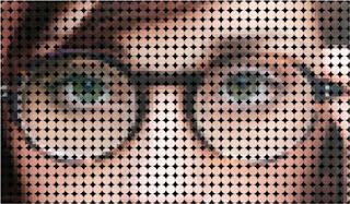 tampilan foto pola dots