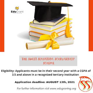 EduGrant - Sweet Sensation Scholarship Form 2021 [1st Edition]