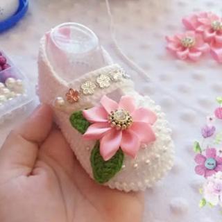 Zapatillas de Bebé a Crochet