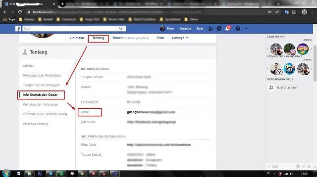 Cara Mengetahui Email FB Sendiri