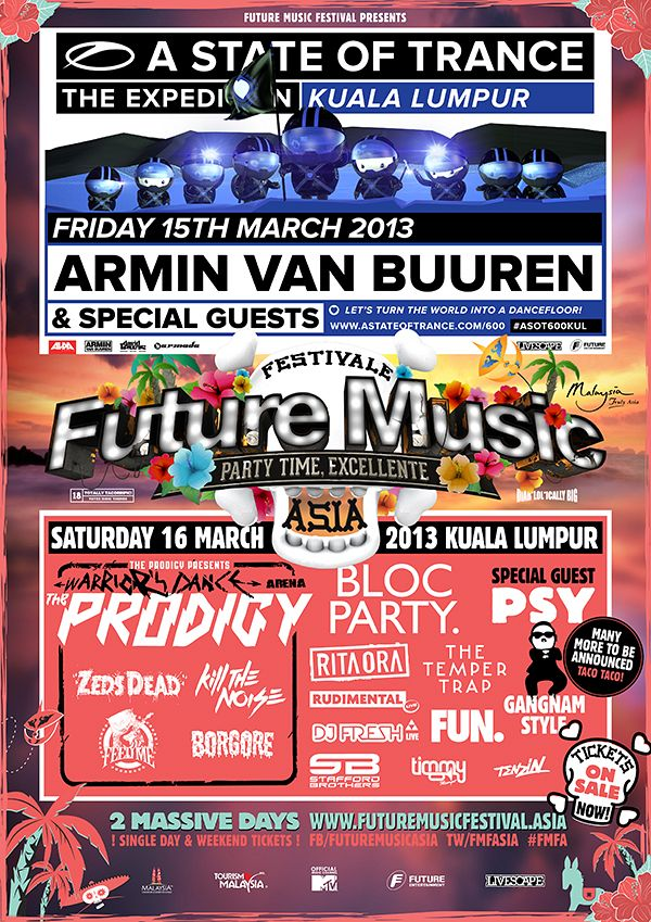 Poster for Future Music Festival Asia