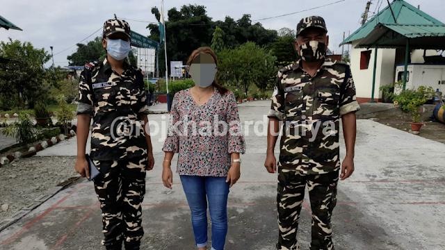 पानीटंकी बीओपी के बीआईटी कर्मियों द्वारा भारतीय पहचानपत्र के साथ एक नेपाली महिला गिरफ्तार।