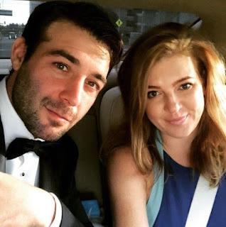 Elizabeth Jae Byrd with her husband James Wolk