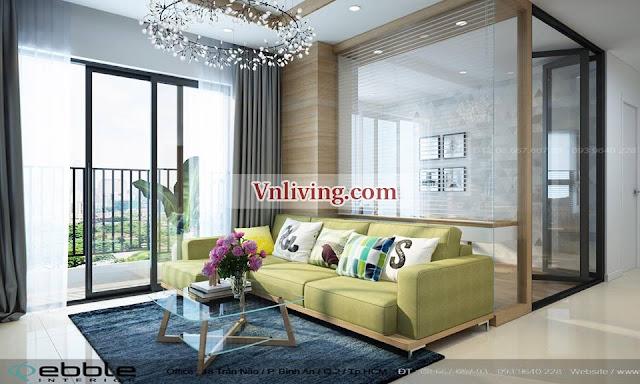 Beautiful Living room Masteri Thao Dien apartment for rent