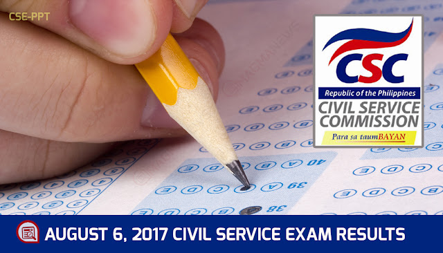 Region 11 Passers - August 6, 2017 Civil Service Exam #CSE-PPT