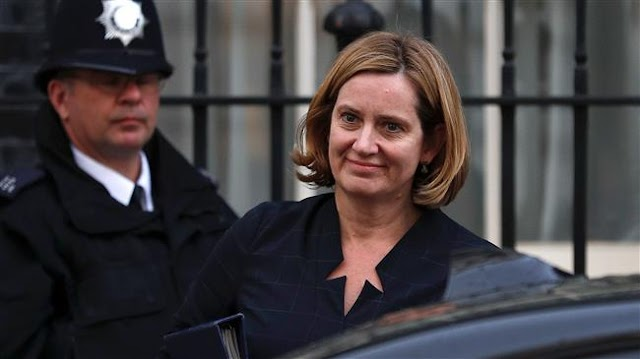 Britain's Prime Minister Theresa May faces reshuffle after top minister Amber Rudd quits