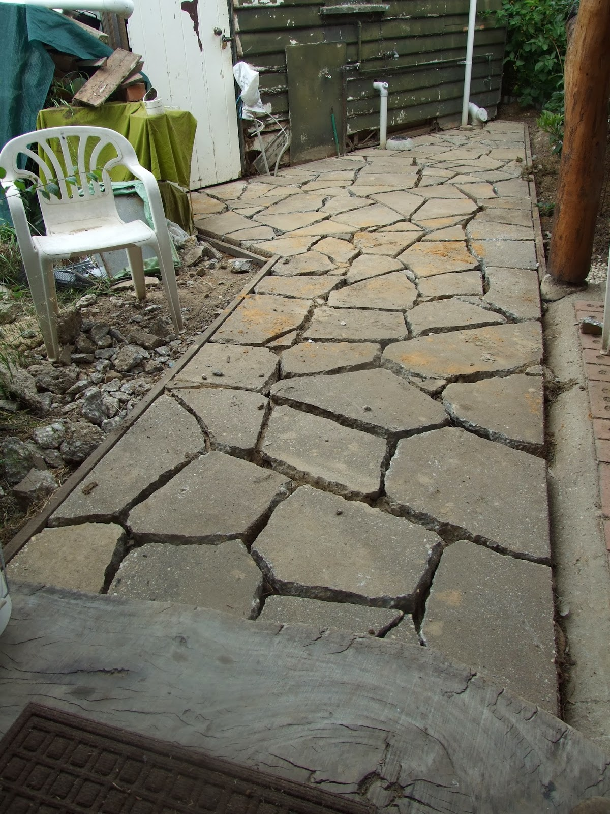 Crazy Paving With Urbanite
