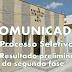 Resultado Preliminar da Segunda fase do Processo Seletivo 001/2017