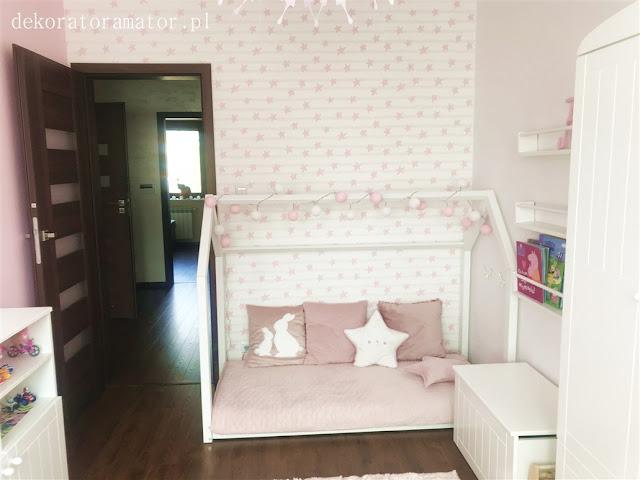 Pokój dziecięcy pokój dziewczynki pokój pudrowy róż pokój skandynawski pokój dziecka kidsroom