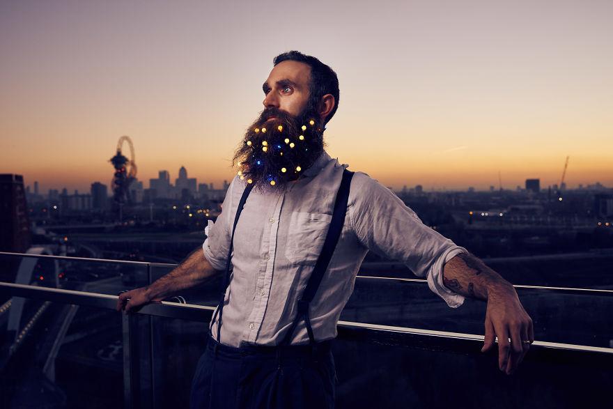Christmas light, beard, christmas