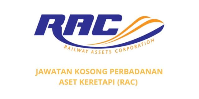 Jawatan Kosong Perbadanan Aset Keretapi 2021 (RAC)