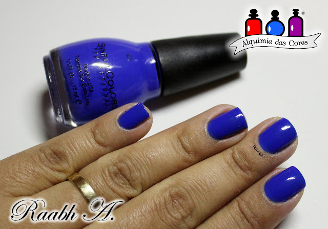Raabh A. 2019, Sinful Colors, DRK Nails, Sinful Colors Endless Blue, DRK Nails  Cover is Not The Book, Esmalte Magnético, flocado, shimmer, Latika Orbit