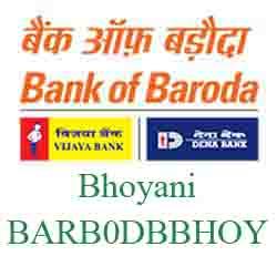 New IFSC Code Dena Bank of Baroda Bhoyani