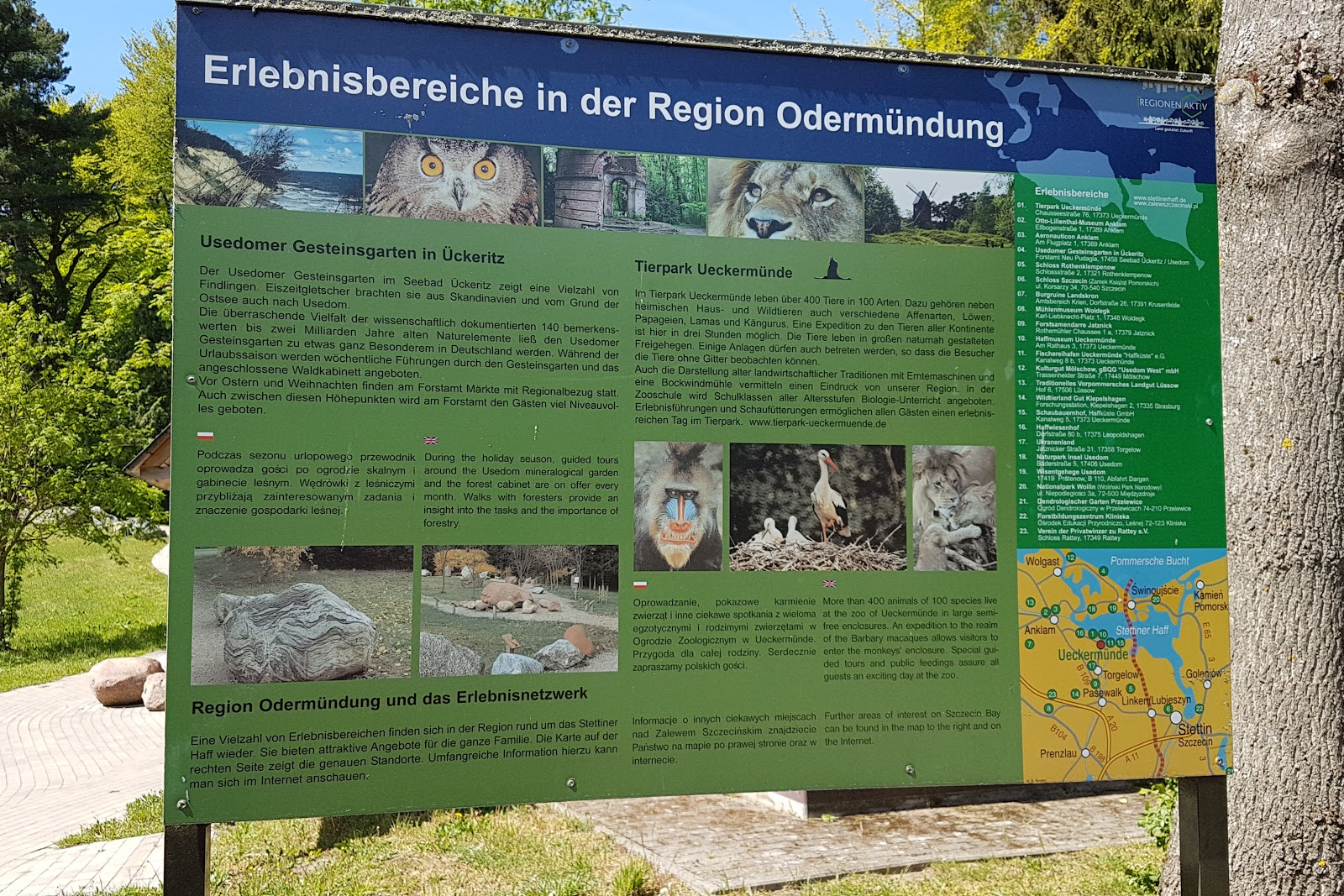 Gesteinsgarten und Waldkabinett in Neu Pudagla