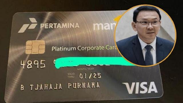 Jadi Komut, Ahok Dapat Fasilitas Kartu Kredit Limit Rp30 M dari Pertamina