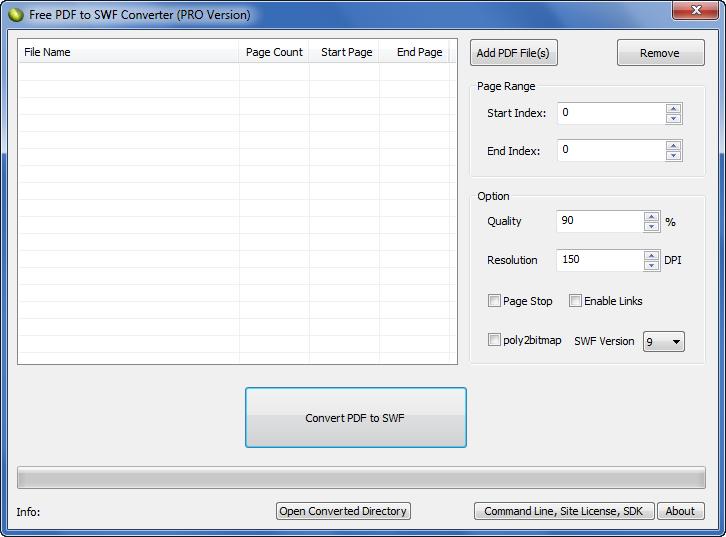 Free PDF to SWF Converter PRO