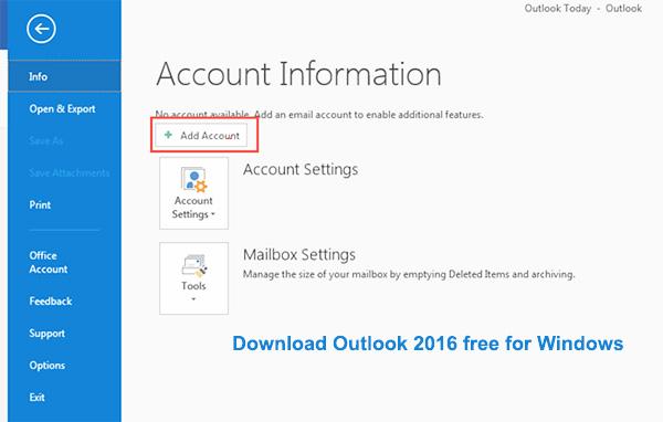 Tải Outlook - Download Outlook 2016 về máy tính miễn phí b