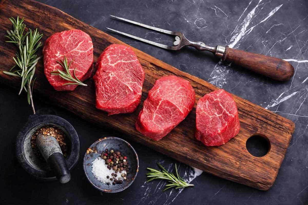 la viande rouge maigre peut être consommé dans le cadre d'une alimentation saine