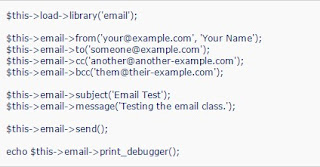 How to send email with CodeIgniter