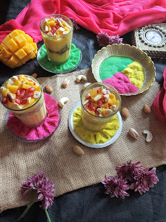 Holi Recipe -   Mango Yogurt Thandai Shots