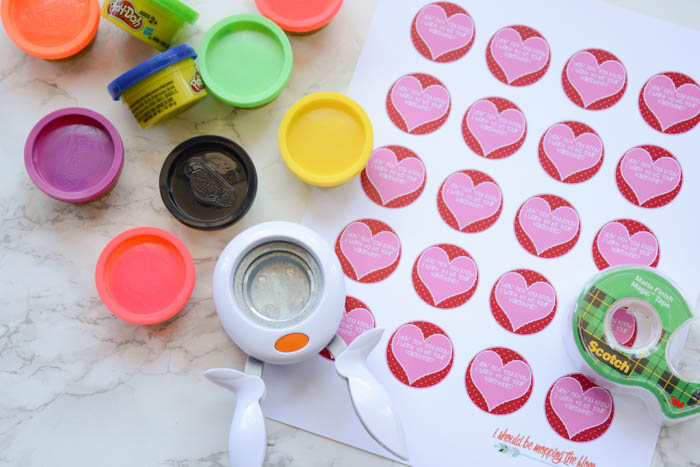 photograph relating to Play Dough Valentine Printable referred to as Cost-free Printable Enjoy Doh Valentines i need to be mopping the