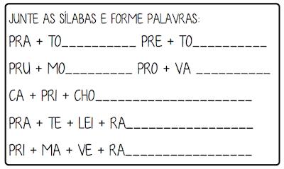 2 Atividades trabalhando sílabas complexas letra P