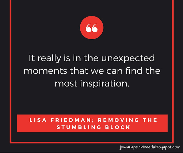 Unexpected moments; Removing the Stumbling Block