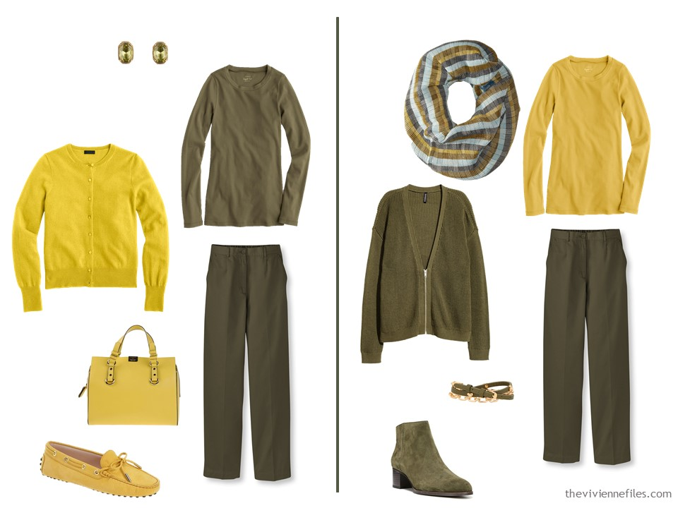 Wearing Mustard And Olive Green Together