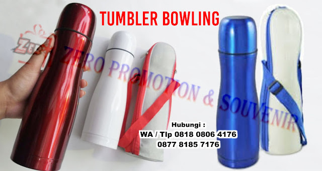 Tumbler Bowling Vacuum Flask stainless, Bowling Termos Tumbler, Vacuum Flask Bowling Botol Bowling, Termos 500ml Tumbler Promosi Custom Harga Grosir Murah