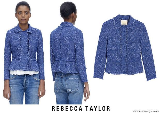 Kate Middleton wore Rebecca Taylor Sparkle Tweed Ruffle Jacket