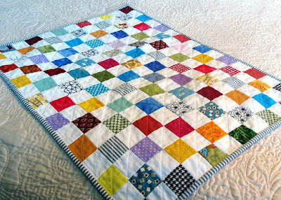 postage stamp doll quilt