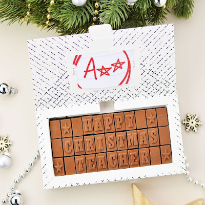 Happy Christmas Teacher chocolate