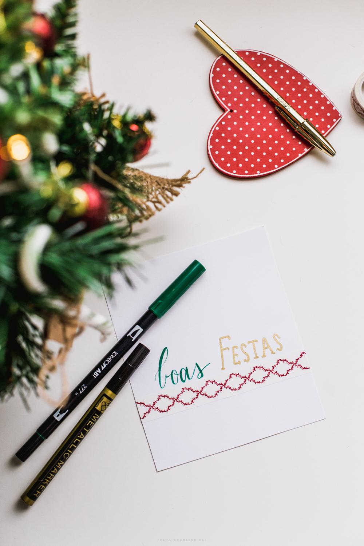 Boas festas, cartão DIY para alguém especial.