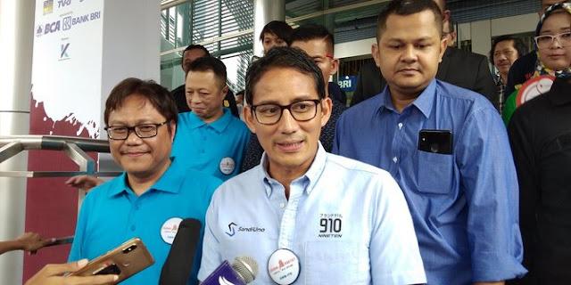 Sandiaga Akan Lanjutkan Program Pak Jokowi Jika Prabowo Subianto Dan Sandiaga Uno Menang Di Pilpres 2019 Yang Pro Rakyat
