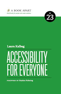 "Front cover of Laura Kalberg's book ""Accessibility for Everyone"""