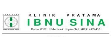 Info lowongan kerja Klinik Pratama Ibnu Sina Jepara dibutuhkan segera untuk mengisi posisi sebagai berikut