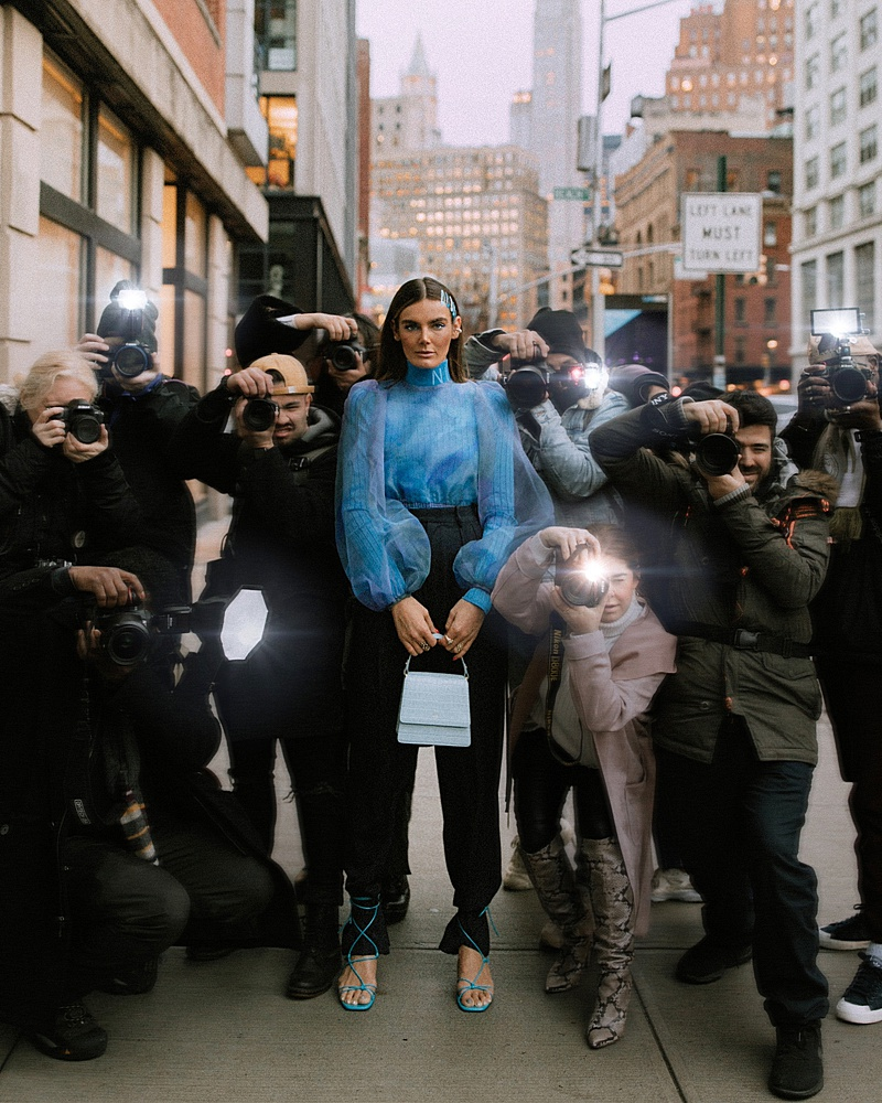 A Blue Moment - NYFW Street Style