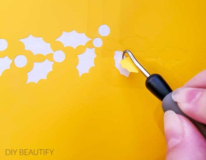 weeding the stencil