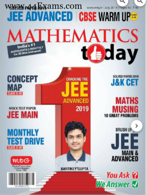 Mathematics Magazine July 2019 : For NEET/JEE Exam PDF Book