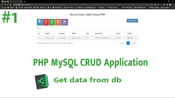 PHP MySQL CRUD Application