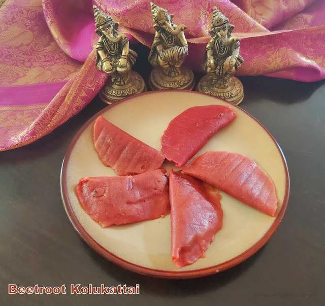 images of Beetroot Kolukattai / Beetroot Kozhukattai / Beetroot Modak - Ganesh Chathurthi Recipes