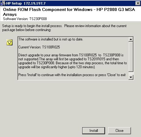 Cosonok's IT Blog: HP P2000 G3: Upgrading Firmware to TS230P008