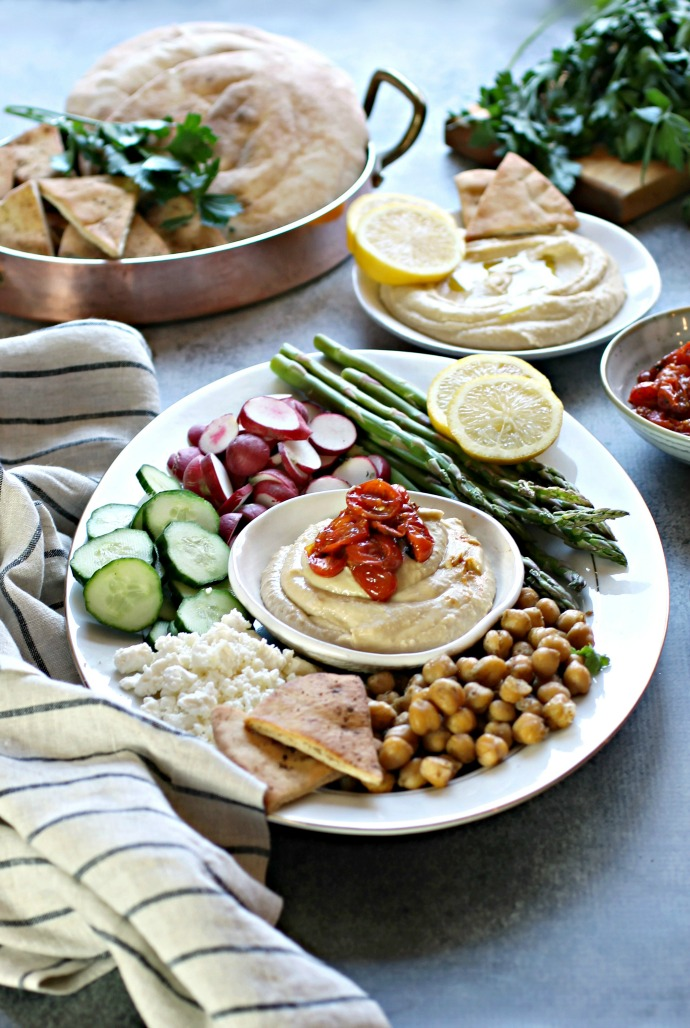 Za'atar Roasted Tomatoes and a Hummus Appetizer Bar