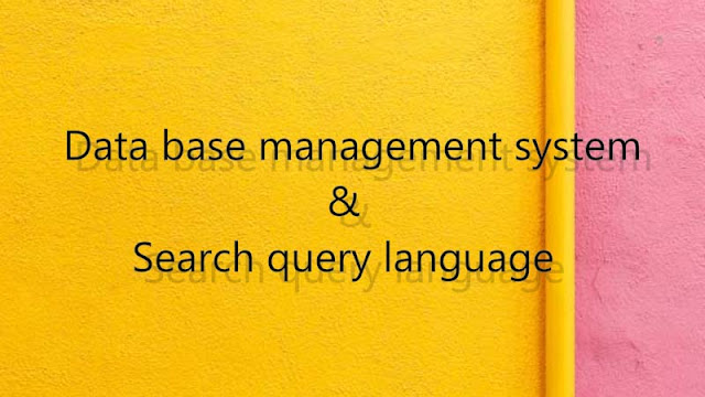 Basic concepts, reference and history of database management system, search query  language