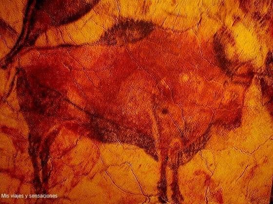 Bisonte, cueva de Altamira, Parque de la Prehistoria, Asturias