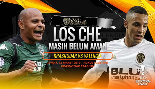 Prediksi Krasnodar Vs Valencia, Jumat 15 Maret 2019 Pukul 00.55 WIB