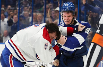 hockey nhl fight canadiens lightning